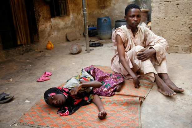PFIZER VICTIM S THE DYING FIRDAUSI AND HER BROTHER SANI