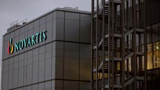 Swiss drugmaker Novartis' logo is seen in Stein